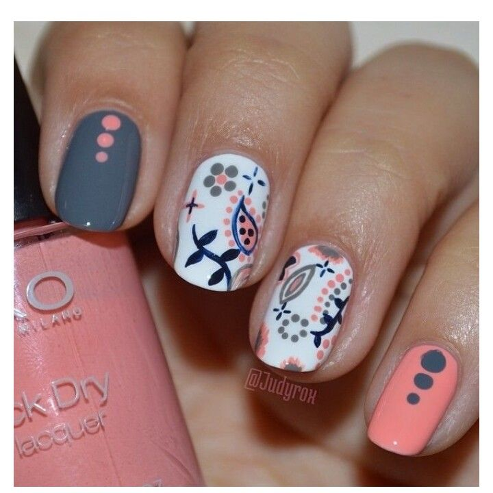 Paisley nails | Nails - Paisley, Bandana + | Pinterest ...