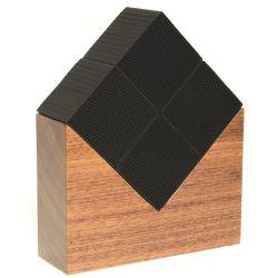 Cube Chikuno épurateur d'air écologique, socle en noyer