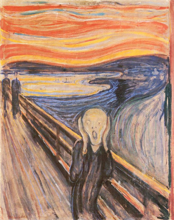 Edvard Munch. Çığlık, 1893. Bu tablonun canvas baskısını edinmek için resme tıklayınız. #canvastar #canvas #tablo #tablolar #baskı #resim #ressamlar #dekorasyon #tuval