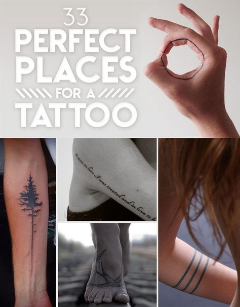 33 Perfect Places For A Tattoo | sooziQ