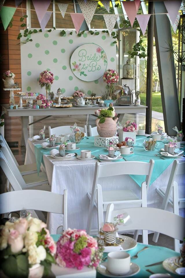 Despedida de soltera bride to be detalles flores for Decoracion postres