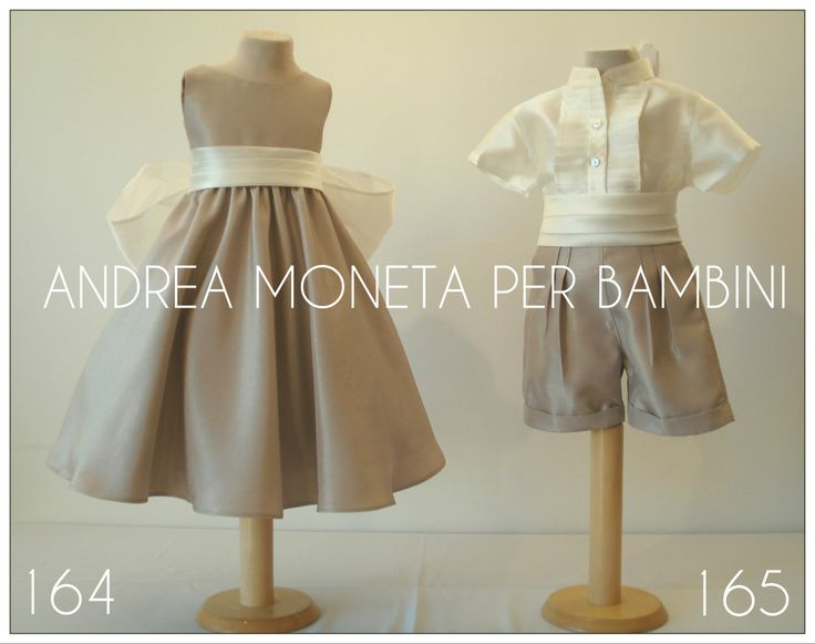 Trajes para Cortejo de Boda / Pajes. Wedding Outfints for Babies and Children. www.andreamoneta.wix.com/perbambini BUENOS AIRES-CARACAS-NEW YORK