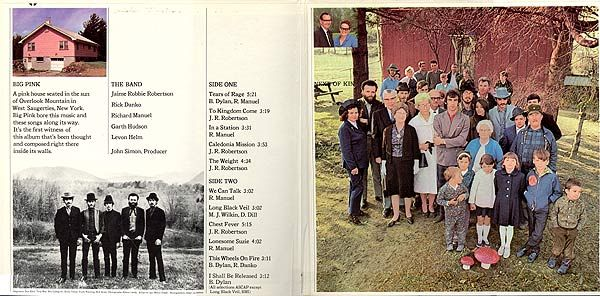 The inside of Music From Big Pink.  These folk on the right really were The Band's next of kin.