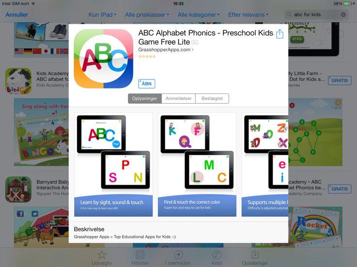 App med alfabetet