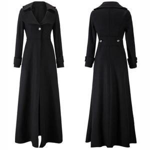 Manteau femme long cachemire automne et hiver Noir Noir - Achat / Vente manteau - caban - Cdiscount