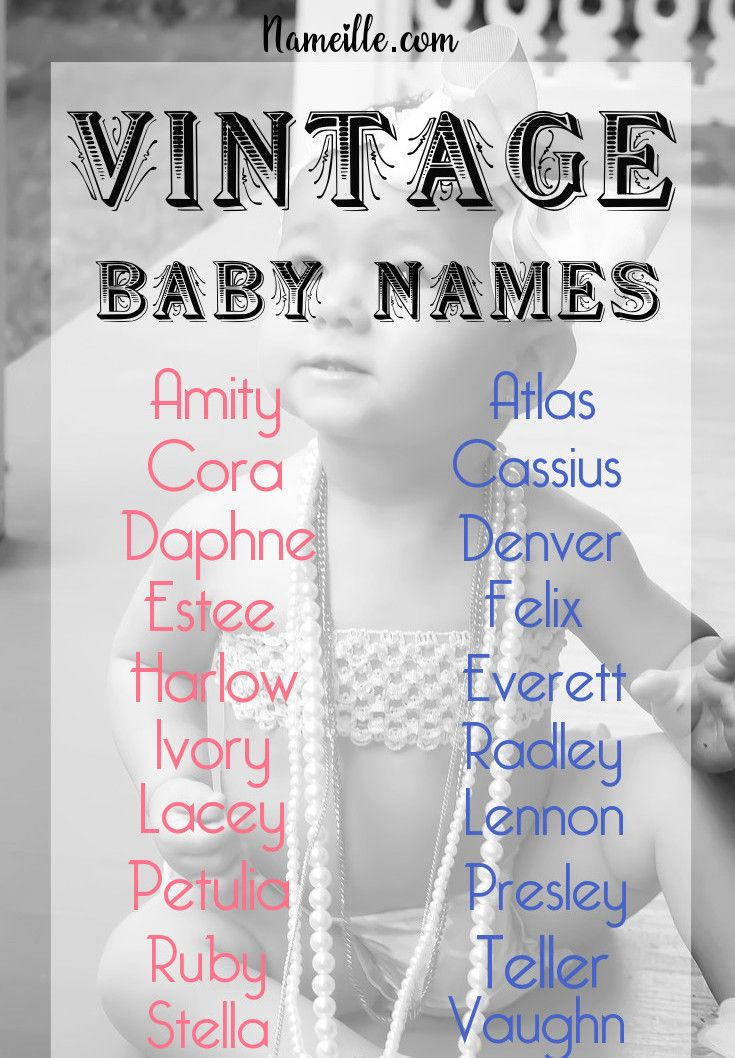 Old Fashioned Vintage Retro Names That are Making a Comeback