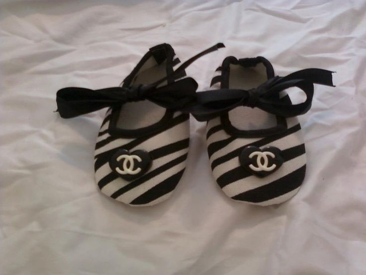 Baby Chanel Shoes by LilyRosesCloset on Etsy, $16.50
