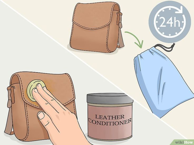 how to clean leather purse at home