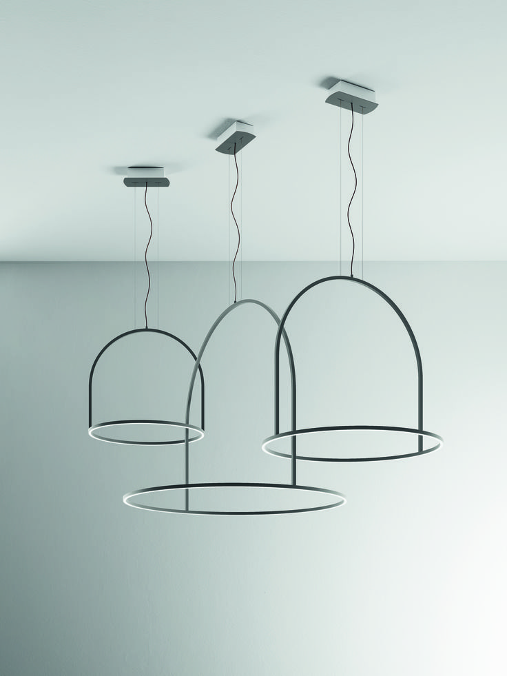 Buy online u light 160 by axolight led metal pendant lamp design timo ripatti u light collection
