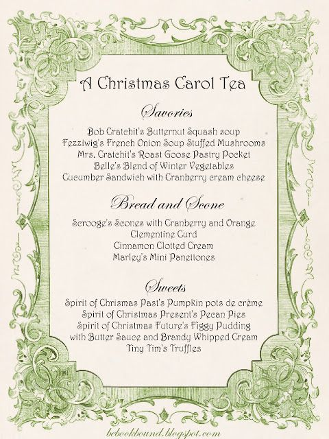 A Christmas Carol Tea Party