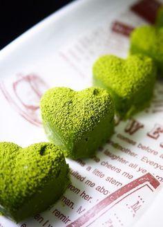 バレンタイン♡レンジで簡単♪抹茶生チョコ