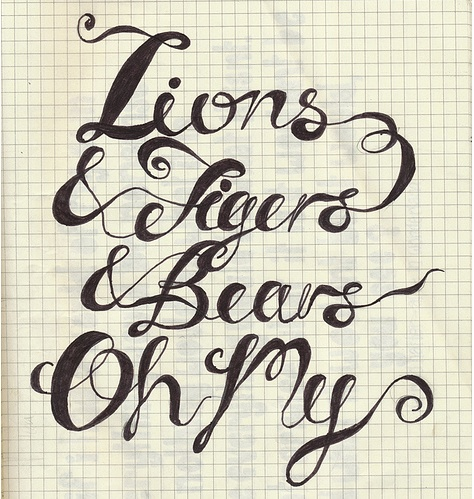 ...Wonderfully loopy hand-drawn type by Rochelle Lewis