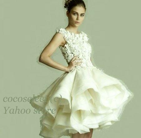 Wedding Mini Dress ウェディングドレス ミニ ブローチブーケに合いそうなドレス!