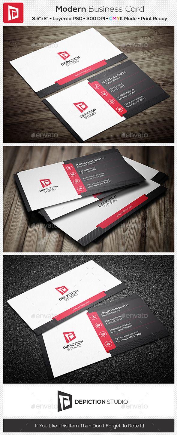 25 best tarjetas images on pinterest business cards business card modern business card template reheart Choice Image