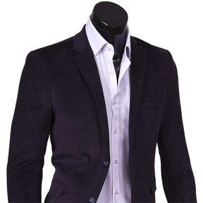 Темно синий вельветовый мужской пиджак под джинсы купить недорого в Москве