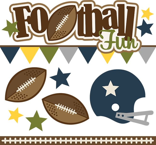 Football Fun - SVG Scrapbooking files for cutting