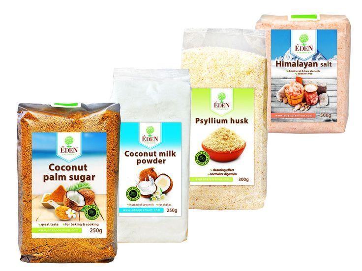 TestPack 4er - Kokoszucker, Kokosmilcpulver, Flohsamenschalen, Speisesalz