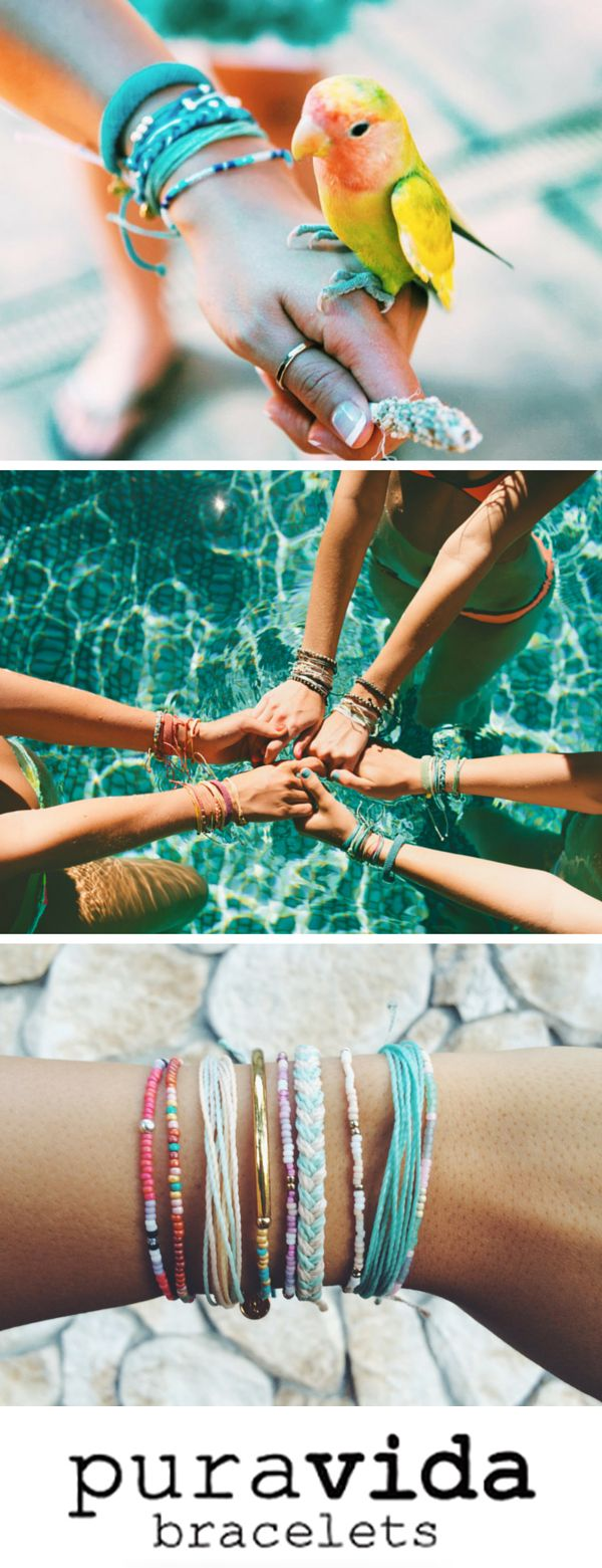 Style your wrist this summer with beautiful hand-made bracelets! Made with love in Costa Rica, every bracelet purchased helps to provide full-time jobs to 100+ local artisans. Use code 'PV20' for 20% off plus free shipping on all U.S. orders over $25. Live free and join the Pura Vida movement!