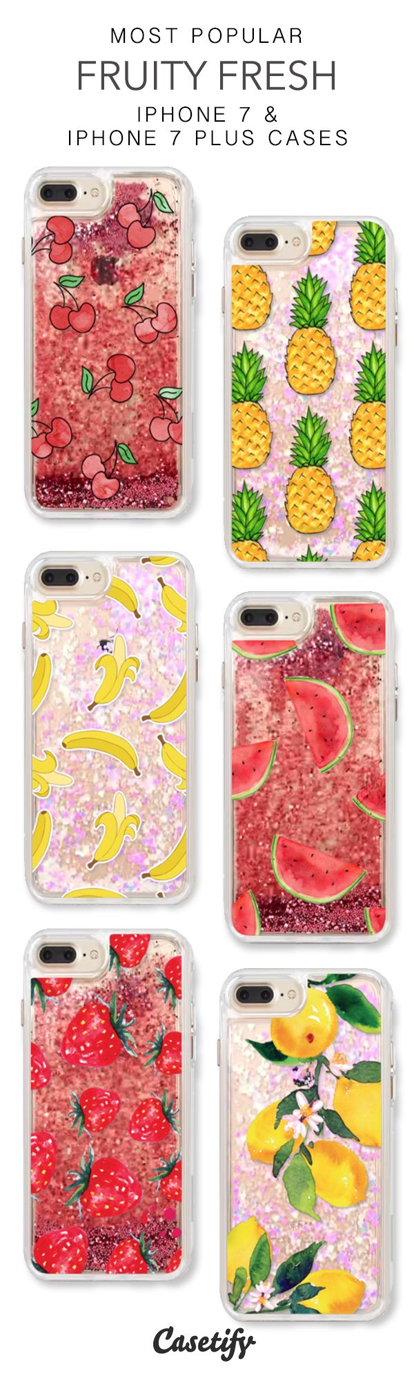 Most Popular Fruity Fresh iPhone 7 Cases & iPhone 7 Plus Cases. More glitter iPhone case here >?https://www.casetify.com/en_US/collections/iphone-7-glitter-cases#/?vc=PmtFECxru3