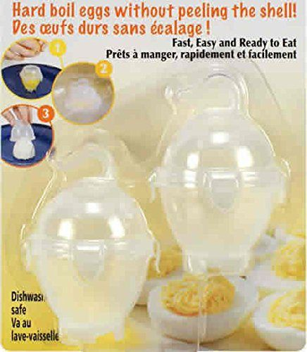 2-pc No Peel Hard Boiled Egg Cookers - http://sleepychef.com/2-pc-no-peel-hard-boiled-egg-cookers/