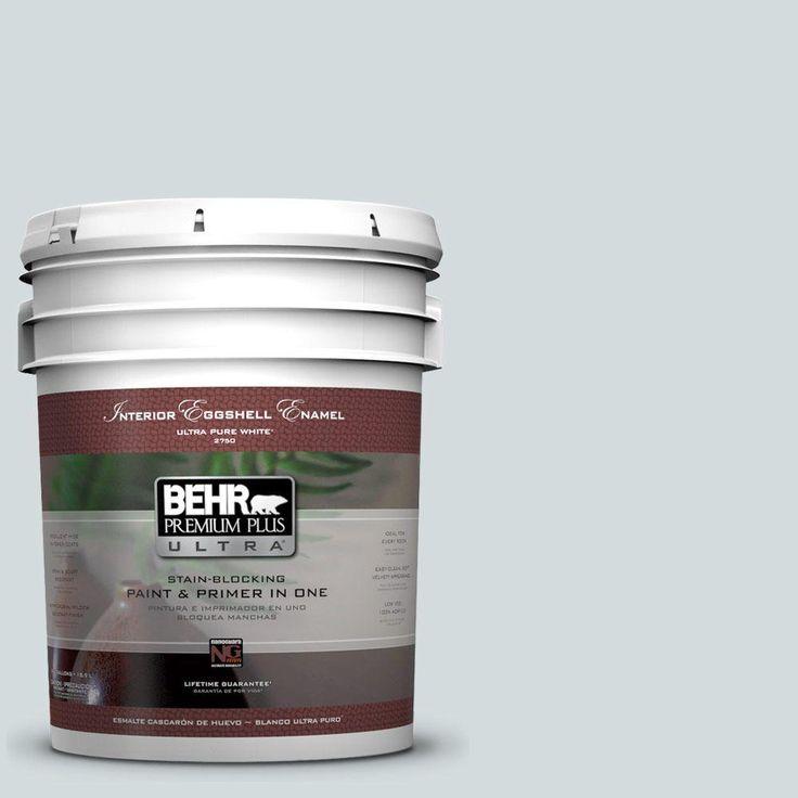BEHR Premium Plus Ultra 5 gal. #PPU12-13 Urban Mist Eggshell Enamel Interior Paint and Primer in One-275005