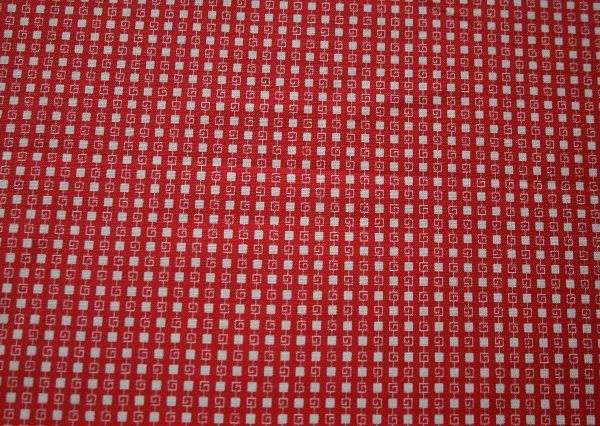 Red Squares - mid weight cotton with so many possibilities...