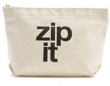 Dogeared 'The Lil' Zip' Print Pouch