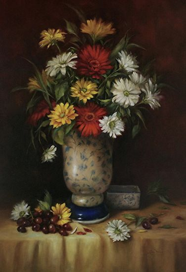 Summer Daisies by Lisa Price Oil ~ 24 x 18