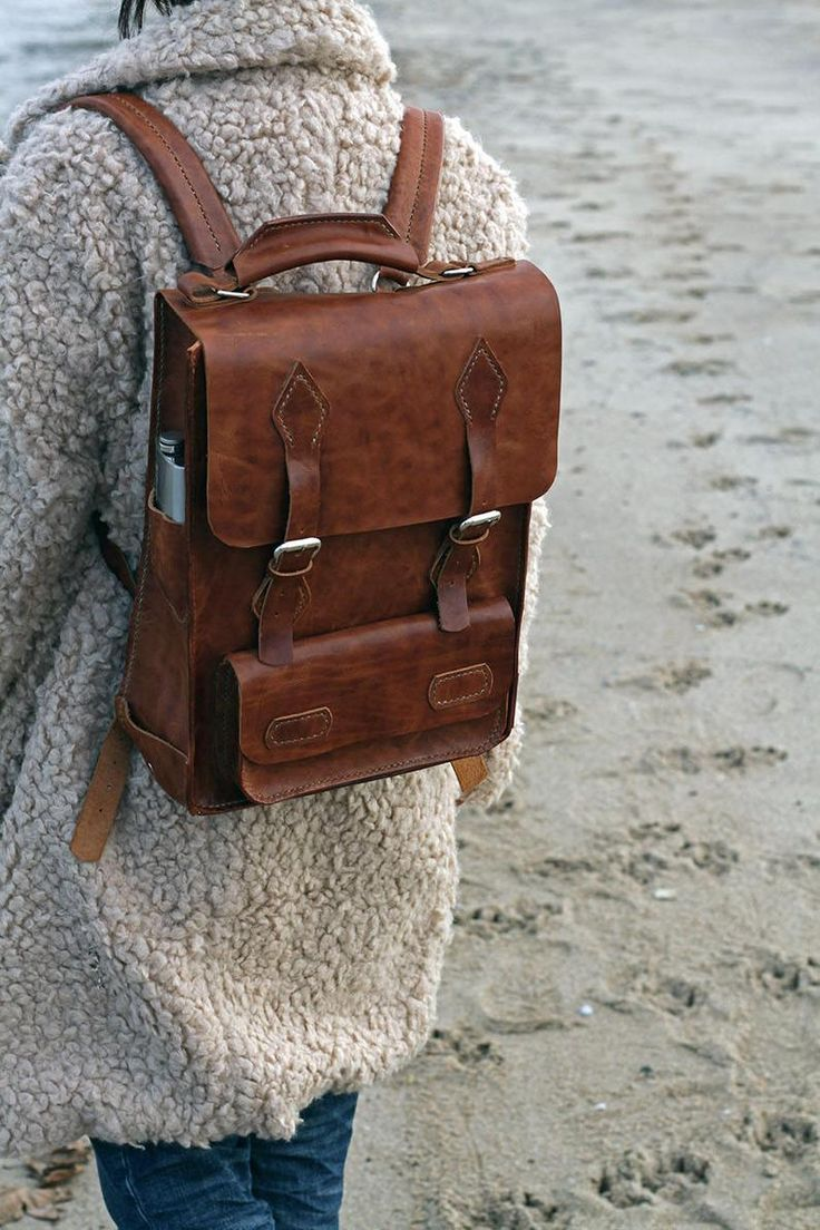 Boho Bag Leather Backpack Leather Briefcase Men Mens Leather Accessories