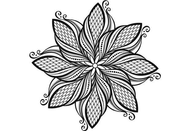 Coloriage anti stress et mandala gratuits pour adulte d coration coloriage gratuit - Coloriage fleur geometrique ...