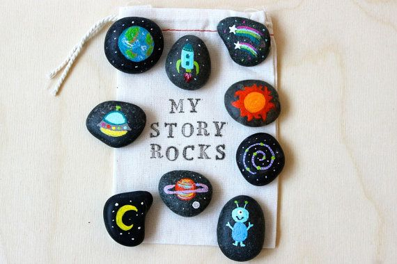 Story Stones and Painted Rocks / Outer Space