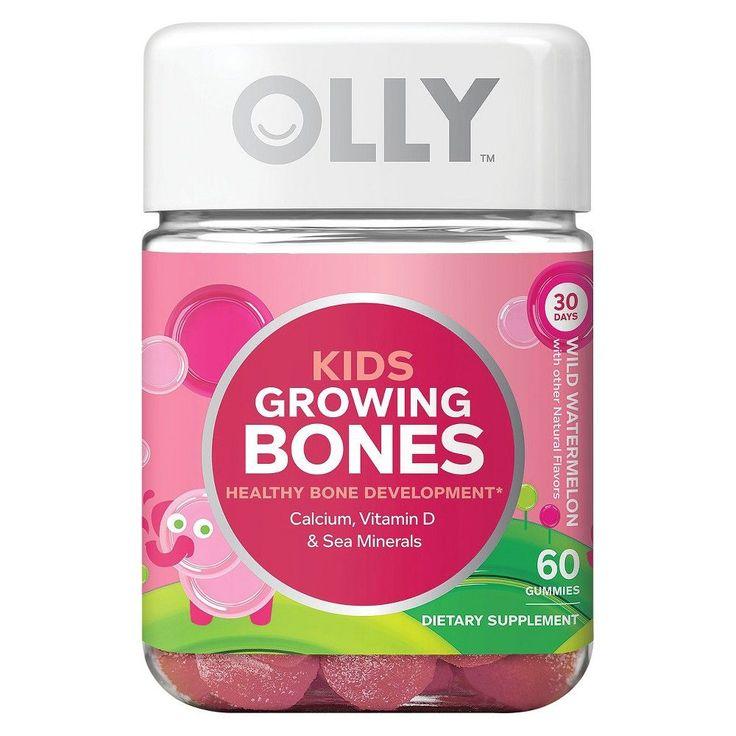 Olly Kids Growing Bones Wild Watermelon Vitamin Gummies - 60 Count