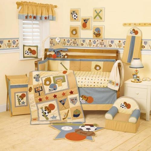 Cheap All Sports Baby Boy Crib Bedding Set Basketball