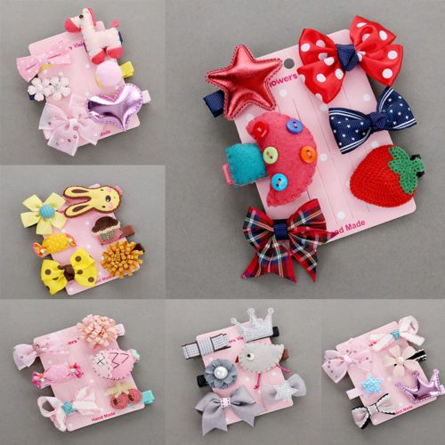 6Pcs//Lot Cute Kids Hair Clips Candy Baby Attractive hair Accessories Good Gift
