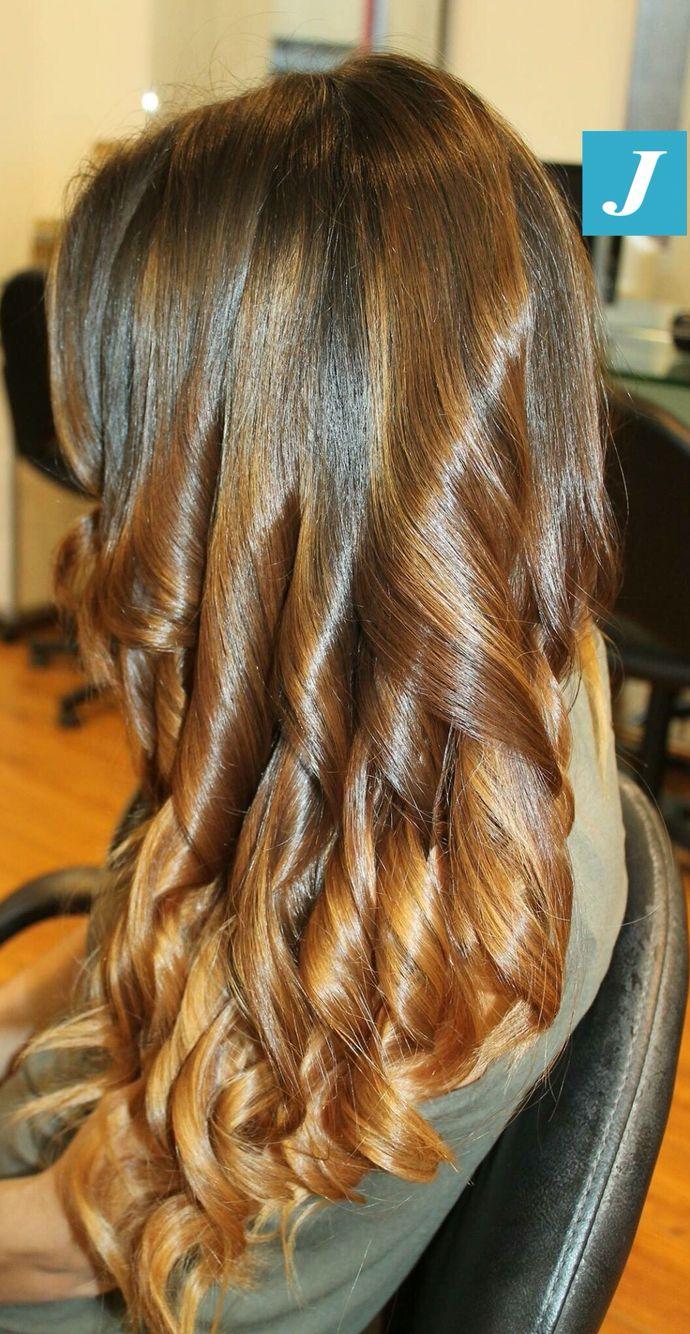 Caramel Shades of Degradé Joelle! #cdj #degradejoelle #tagliopuntearia #degradé #igers #musthave #hair #hairstyle #haircolour #longhair #ootd #hairfashion #madeinitaly #wellastudionyc