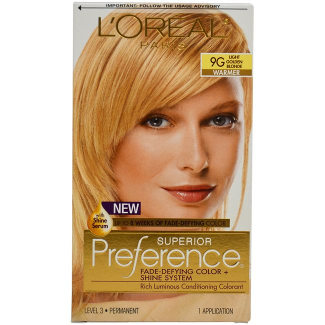 L Oreal Paris Superior Preference 9g Light Golden Blonde Hair