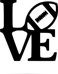 "Crafting with Meek: ""Love"" Football SVG"