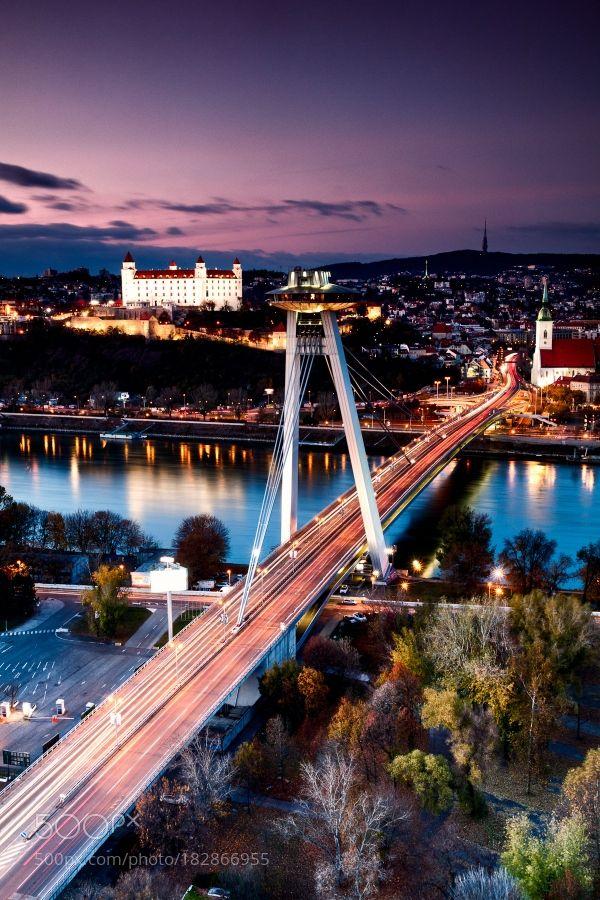 Bratislava sunset by thaluska. @go4fotos