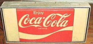 RARE,1970`s COLA COLA 4 FOOT INDOOR / OUTDOOR LIGHTED SIGN