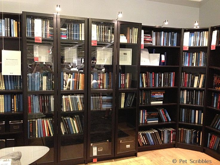 Ikea store display of billy bookcases for library book - What did the wall say to the bookcase ...