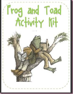 Free Frog and Toad Activity Kit  Click on picture to download 10 page free pdf. {nice}