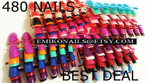Blank False naill 480 PCS Free Nails FIMO18 by emikonails on Etsy