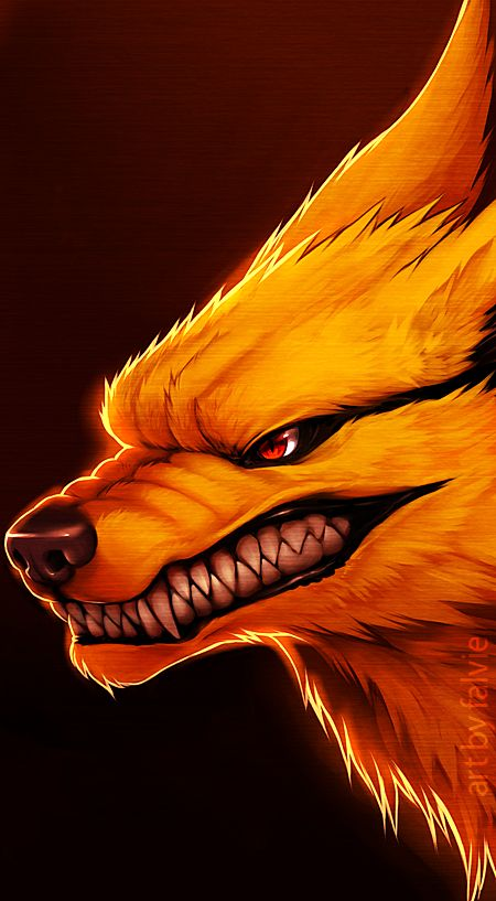 Nine tailed fox from naruto