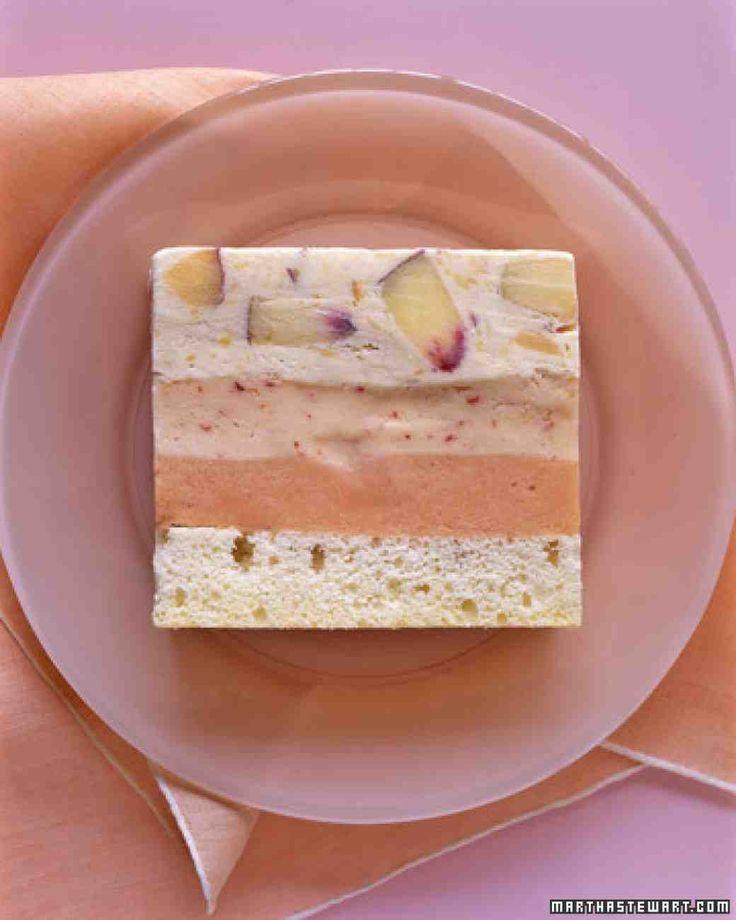 Peaches-and-Cream Ice Cream Cake Recipe