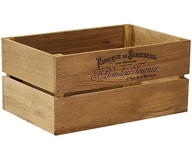 Ящик для хранения - массив дуба, 30х22х45 см