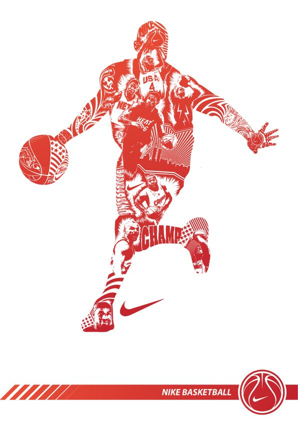 nike basketball by iqbal syafwandi, via Behance