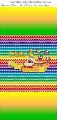 Imprimibles Submarino Amarillo (Beatles) 3.