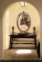 Mediterranean Style Mirrors; end of hall