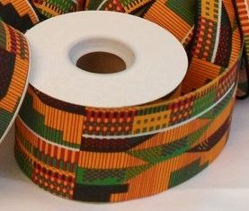 """20yd. x 2-1/2"""" KENTE RIBBON Roll - NON-Wired from HeritageExpressions.Etsy.com - African Ribbon - Ghana - African American - Africa - Kente Cloth -"""