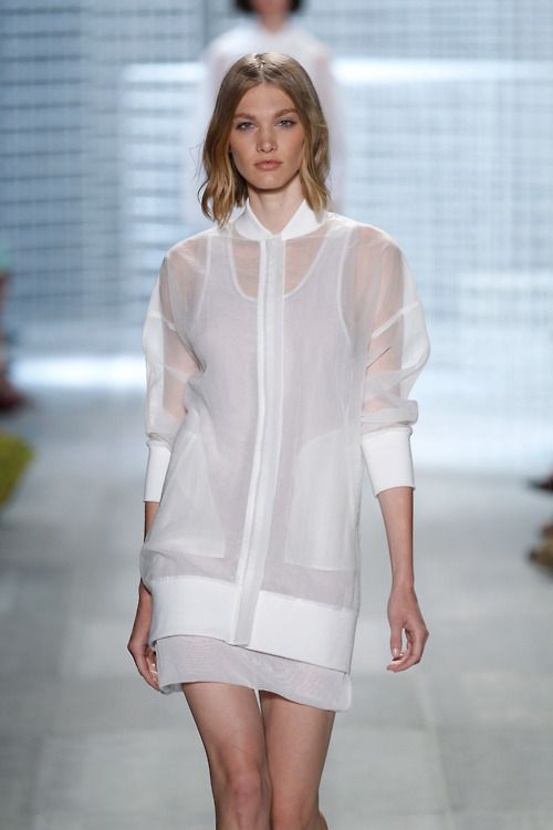 This light layering from lacoste is sheer perfection! [No pun intended]